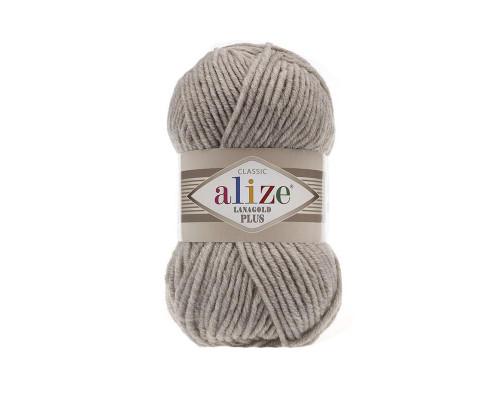Пряжа Alize Lanagold Plus (Ализе Ланаголд Плюс) 152 бежевый меланж