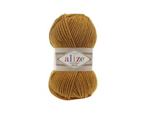 Пряжа Alize Lanagold Plus (Ализе Ланаголд Плюс) 645 горчичный