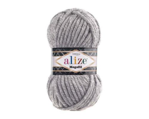 Пряжа ALIZE SUPERLANA MEGAFIL 21 серый
