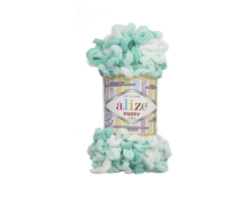 Пряжа Alize Puffy Color цвет 5920