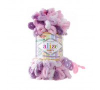 Пряжа Alize Puffy Color цвет 6077