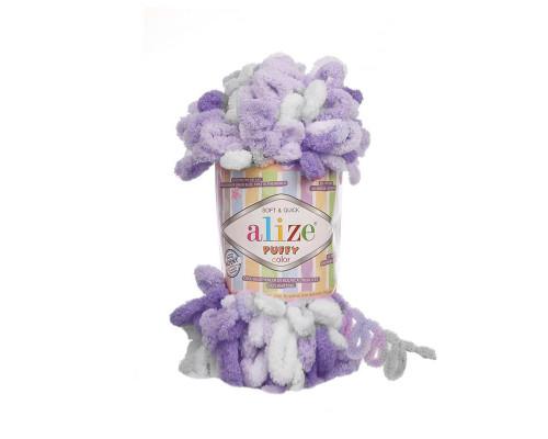 Пряжа Alize Puffy Color цвет 6372