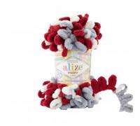 Пряжа Alize Puffy Color цвет 6376