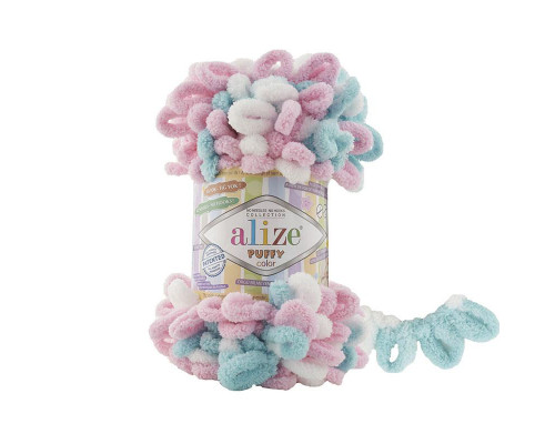 Пряжа Alize Puffy Color цвет 6377