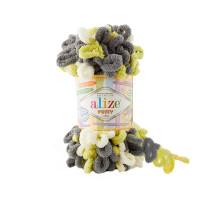 Пряжа Alize Puffy Color цвет 6399