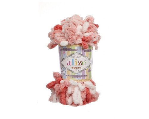 Пряжа Alize Puffy Color цвет 5922