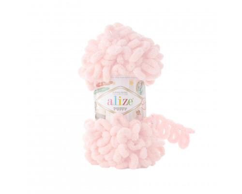 Пряжа Alize Puffy цвет 639 (пудра)