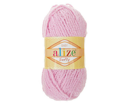 Пряжа Alize Softy (Ализе Софти) 98 розовый