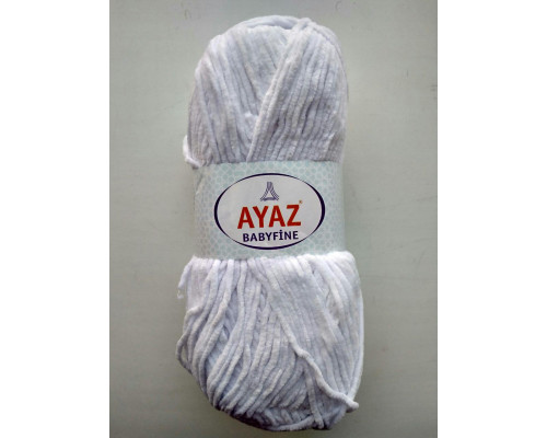 Пряжа Ayaz BabyFine ( Айаз Бэбифайн) 1208 белый