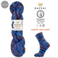 Пряжа Gazzal Happy Feet, 3249