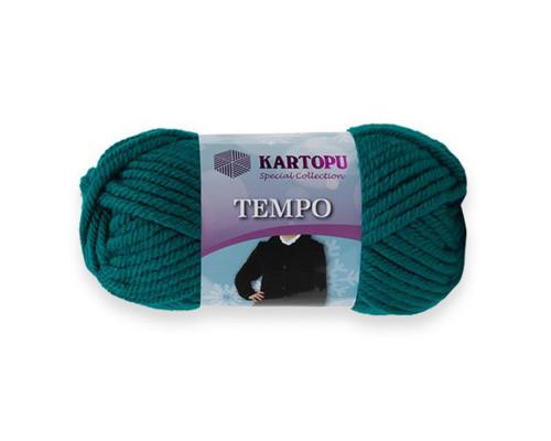 Пряжа KARTOPU Tempo 1467 морская волна