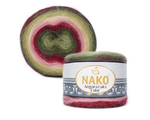 Пряжа NAKO Angora luks color, 81909