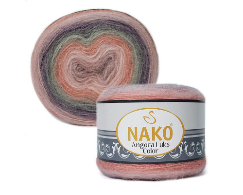 Пряжа NAKO Angora luks color, 81915