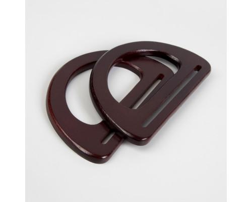Ручки для сумки деревянные, 10 × 18 см, цвет коричневый