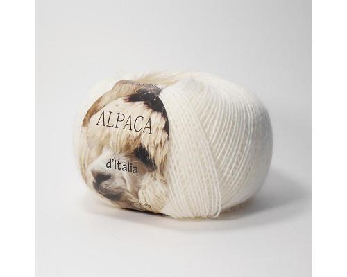 Пряжа Альпака де Италия, цвет 02 белоснежный
