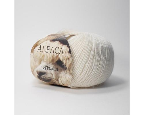 Пряжа Альпака де Италия, цвет 25 молочный