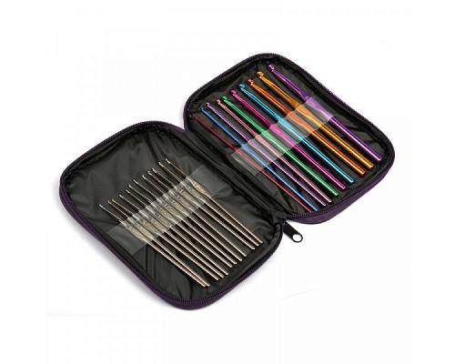 Набор алюминиевых крючков для вязания Maxwell (в органайзере) арт. MAXW.62787 (0.6-6.0 мм)