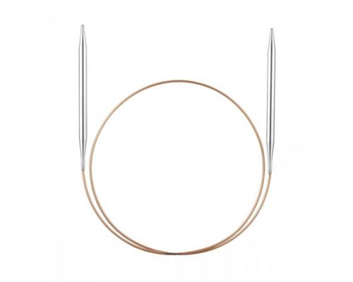 Спицы, круговые, супергладкие, никель, №10, 80 см