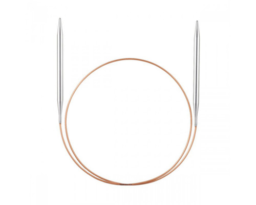 Спицы, круговые, супергладкие, никель, №2.25, 40 см.