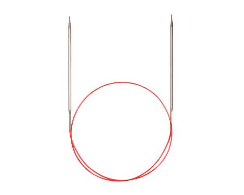 Спицы никелированные круговые с удлиненным кончиком, №3, 50 см