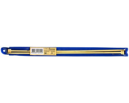 Спицы GAMMA прямые BL2 бамбук d 5.5 мм 35 см