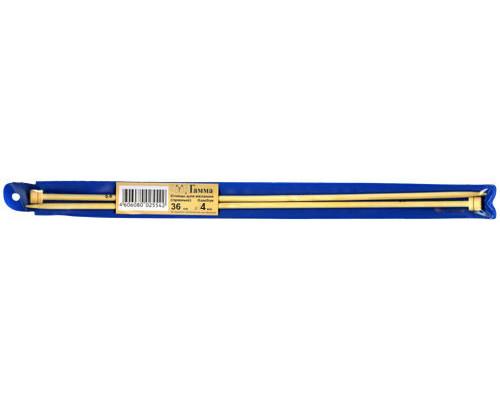 Спицы GAMMA прямые BL2 бамбук d 4.0 мм 35 см