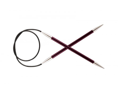 Knit Pro Спицы круговые Zing 6мм/40см, алюминий