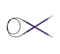 Knit Pro Спицы круговые Zing 7мм/40см, алюминий, аметистовый (фиолетовый)