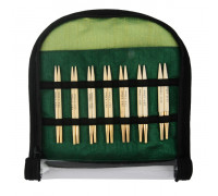 "Knit Pro Набор ""Special Interchangeable Needle Set"" съемных спиц ""Bamboo"" 10см японский бамбук с золотым покрытием 24 карата 7 видов"