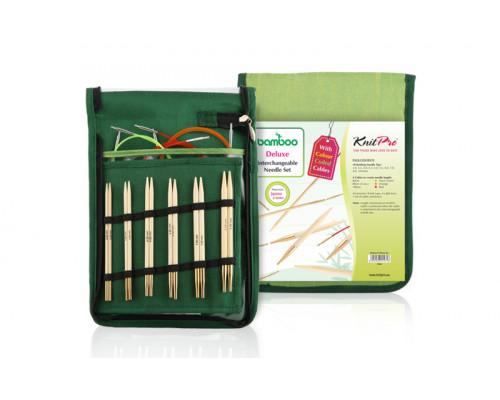 """Knit Pro Набор """"Starter"""" съемных спиц """"Bamboo"""" японский бамбук с золотым покрытием 24 карата на креплениях, 5 видов"""