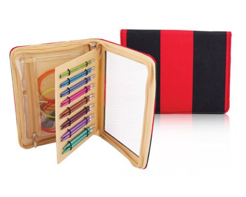 "Knit Pro Набор съемных спиц ""Deluxe"" 3,5мм, 4мм, 4,5мм, 5мм, 5,5мм, 6мм, 7мм, 8мм алюминий, 8 видов спиц"