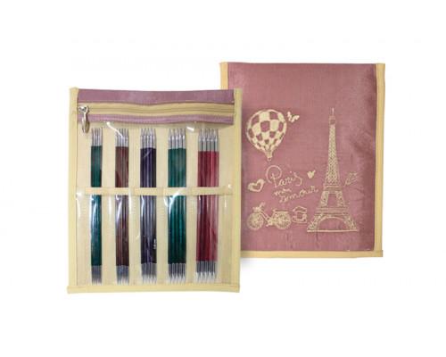 """Knit Pro Набор чулочных спиц """"Royale"""" 15см ламинированная береза, 5 видов спиц 2мм, 2,5мм, 3мм, 3,5мм, 4мм"""