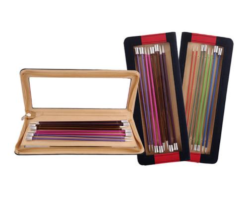 """Knit Pro Набор прямых спиц """"Zing"""" 30 см 8 спиц 2,5-6мм алюминий"""