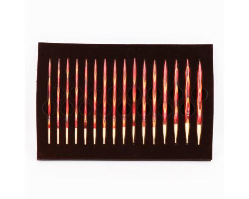 """Knit Pro Подарочный набор """"The Golden Light"""" съемных спиц """"Symfonie"""", дерево, многоцветный, 8 видов спиц в наборе"""