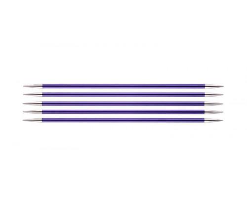 Knit Pro Спицы чулочные Zing 3,75мм/20см, алюминий, 5шт