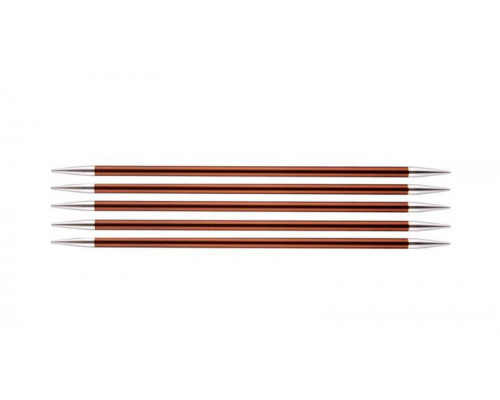 Knit Pro Спицы чулочные Zing 5,5мм/20см, алюминий, 5шт