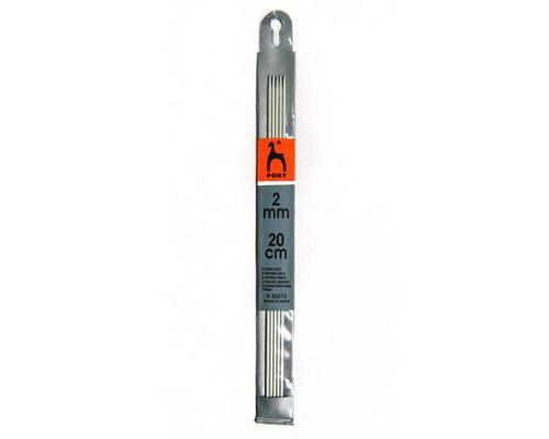 PONY Спицы для вязания носочно-чулочных изделий 20 см 2.00 мм
