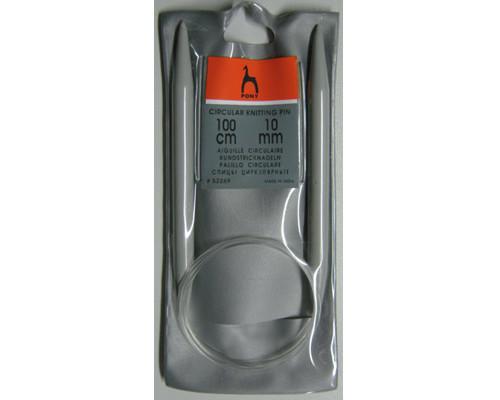 PONY Спицы круговые 10,00 мм/100 см, пластик