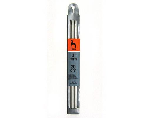 PONY Спицы для вязания носочно-чулочных изделий 20 см 3.00 мм
