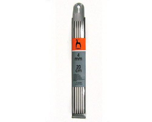 PONY Спицы для вязания носочно-чулочных изделий 20 см 4.00 мм