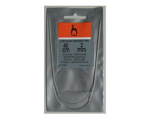 PONY Спицы круговые 2,00 мм/ 40 см, алюминий