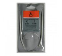 PONY Спицы круговые 5,00 мм/ 40 см, пластик