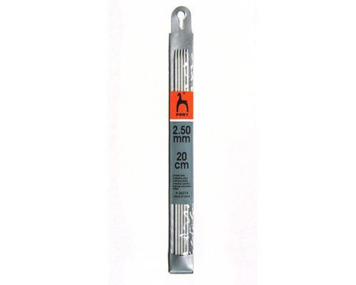 PONY Спицы для вязания носочно-чулочных изделий 20 см 2.50 мм
