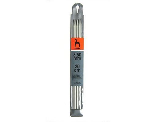 PONY Спицы для вязания носочно-чулочных изделий 20 см 3.50 мм