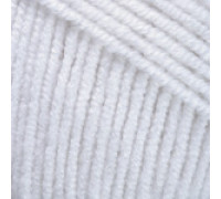 Пряжа Yarnart Jeans (Ярнарт Джинс) 01 белый