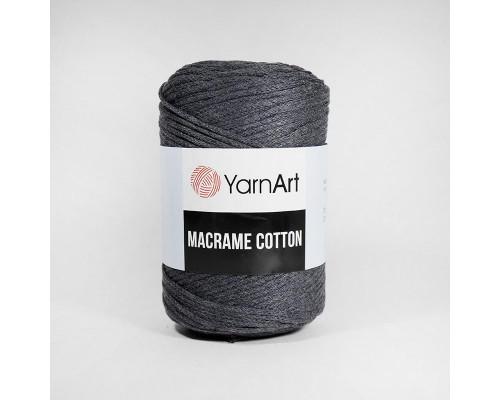 Пряжа Macrame Cotton, 758-т.серый