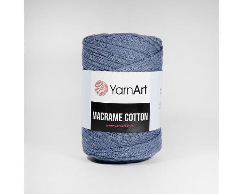 Пряжа Macrame Cotton, 761-серо-голубой