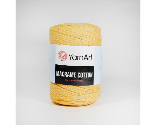 Пряжа Macrame Cotton, 764-желтый