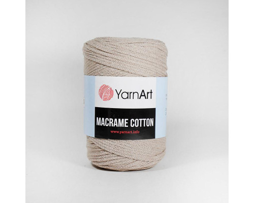 Пряжа Macrame Cotton, 768-бежевый